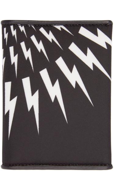 Neil Barrett - Black Thunderbolt Card Holder