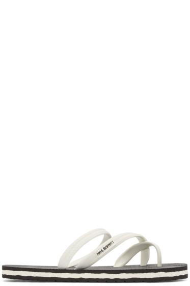 Neil Barrett - Black & White Rubber Sandals