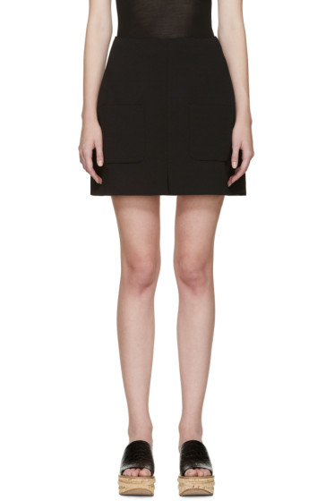 See by Chloé - Black Crepe Pocket Skirt