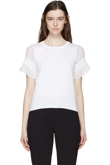 See by Chloé - White Sheer Sleeve T-Shirt