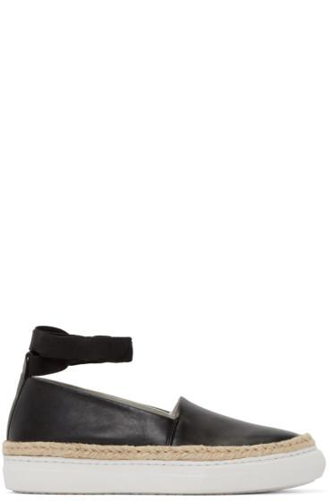 Pierre Hardy - Black Leather Baskedrille Sneakers
