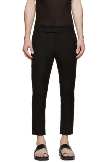 Ann Demeulemeester - Black Cropped Trousers