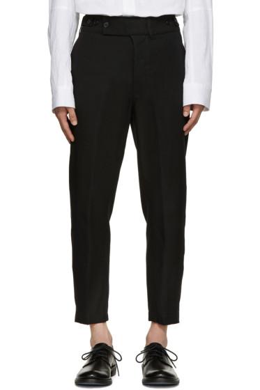 Ann Demeulemeester - Black Twill Trousers