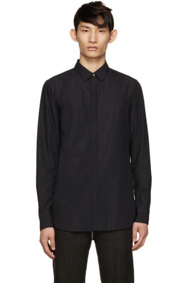 Ann Demeulemeester - Black Woven Stripe Shirt