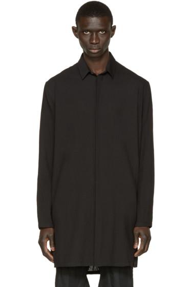 Ann Demeulemeester - Black Long Striped Shirt