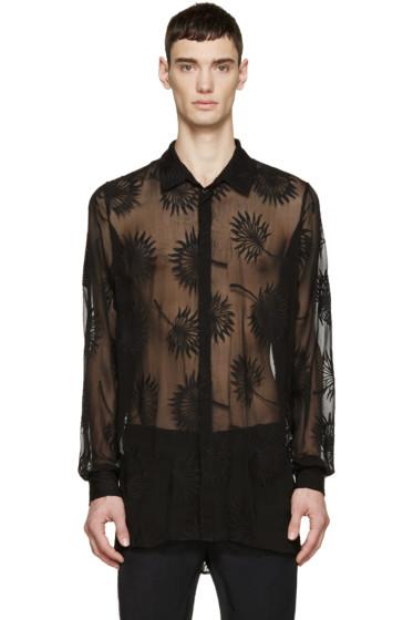 Ann Demeulemeester - Black Silk Embroidery Shirt