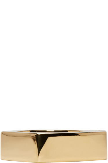Marni - Gold Oversized Cuff Bracelet