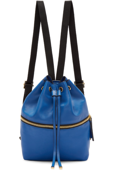 Marni - Blue Leather Mini Backpack