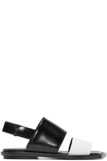Marni - Black & White Leather Sandals