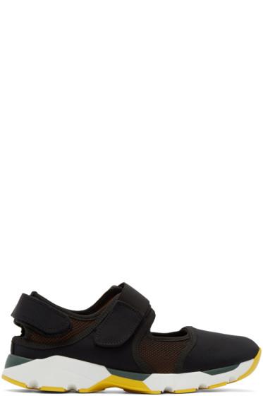 Marni - Black Neoprene Velcro Sneakers