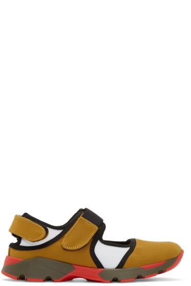 Marni - Yellow & Black Velcro Sneakers