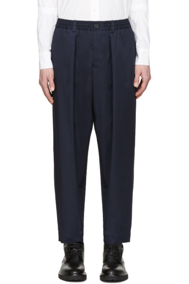 Marni - Navy Oversized Trousers