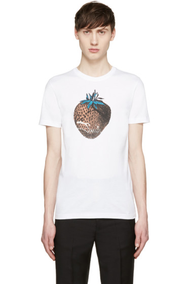 Paul Smith Jeans - White Strawberry T-Shirt