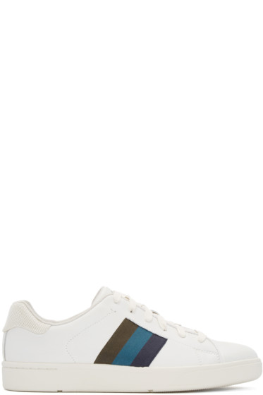 Paul Smith Jeans - White Leather Lawn Low-Top Sneakers