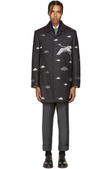 Thom Browne - Grey Wool Crane Coat