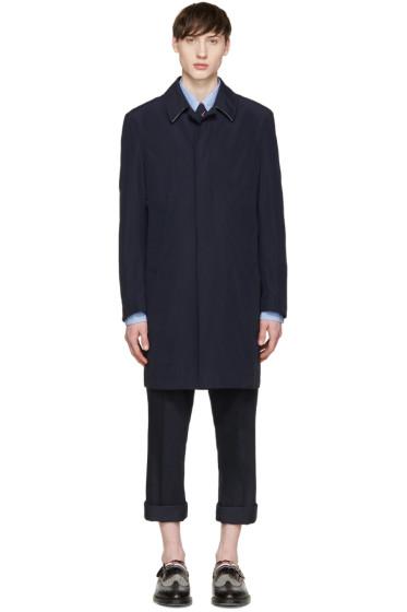Thom Browne - Navy Classic Ball Collar Overcoat