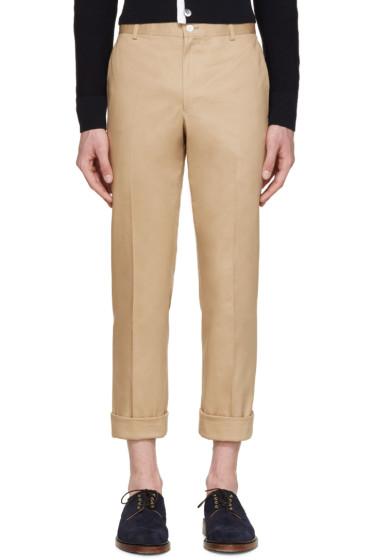Thom Browne - Tan Cotton Twill Trousers