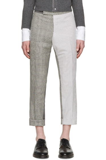 Thom Browne - Grey Slim Funmix Trousers