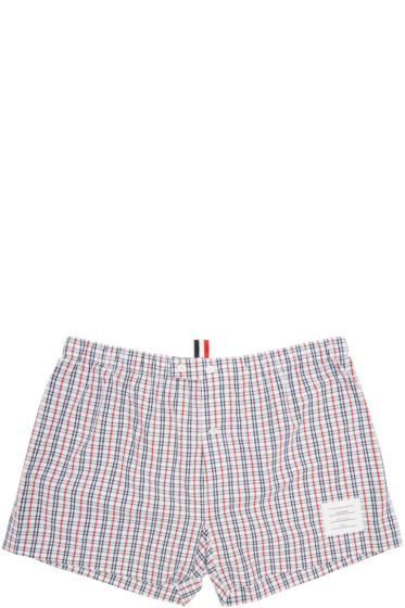 Thom Browne - Tricolor Check Boxers