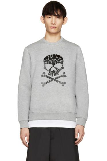 Markus Lupfer - Grey Neoprene Skull Pullover