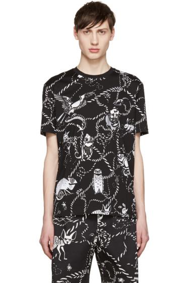 Markus Lupfer - Black Cartoon Animals Chris T-Shirt