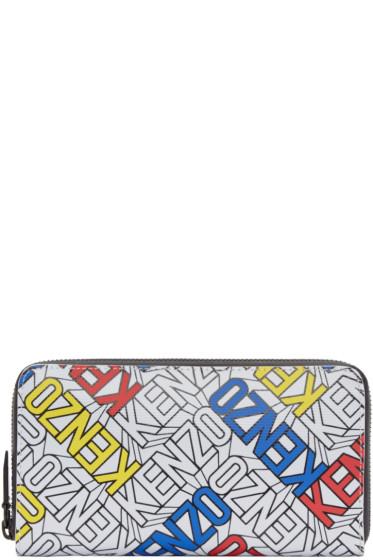 Kenzo - Multicolor Diagonal Logo Wallet