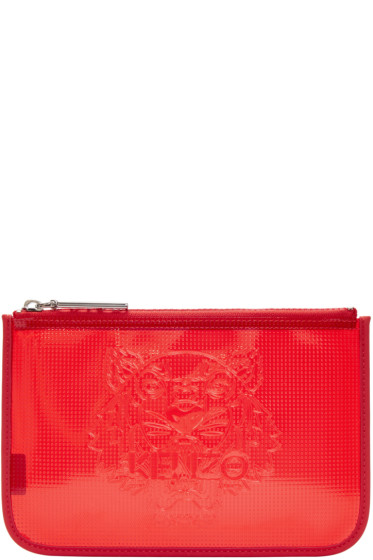 Kenzo - Red Vinyl Tiger Pouch