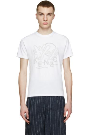 Kenzo - White Cactus Logo T-Shirt