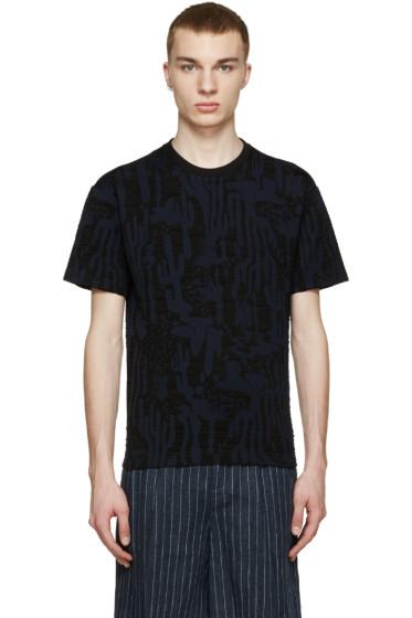 Kenzo - Navy & Black Cactus Print T-Shirt