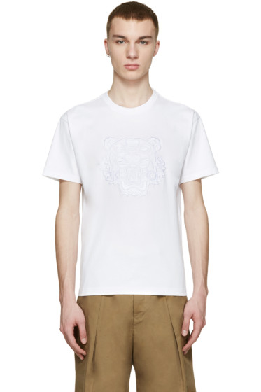 Kenzo - White Embroidered Tiger T-Shirt