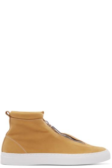 Diemme - SSENSE Exclusive Yellow Fontesi Clip Coast High-Top Sneakers