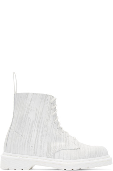 Dr. Martens - White Eight-Eye Pascal Boots