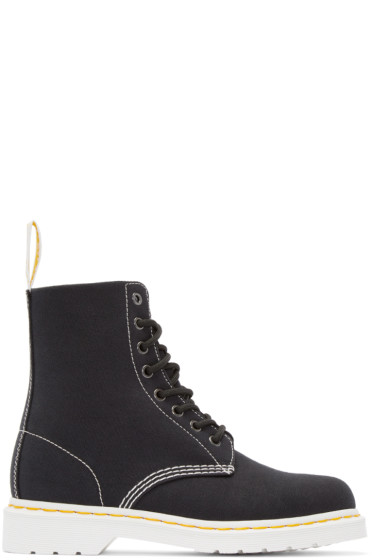Dr. Martens - Black Canvas 8-Eye Page Boots