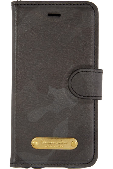 Master-Piece Co - Black Camo Leather Bifold iPhone 6 Case