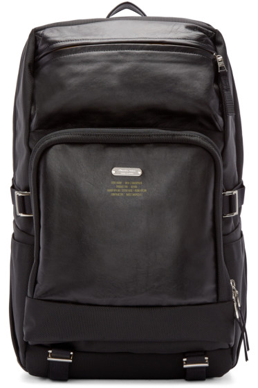 Master-Piece Co - Black Cordura & Leather MKN-2 Backpack