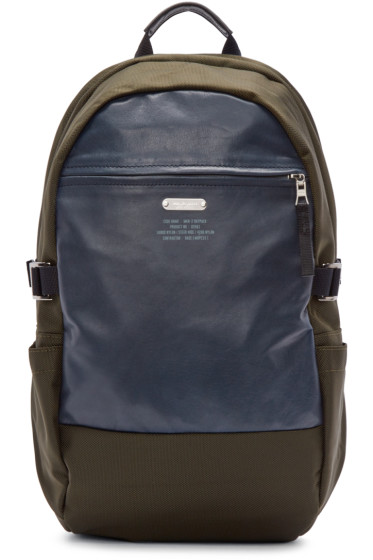 Master-Piece Co - Green Nylon & Leather Backpack