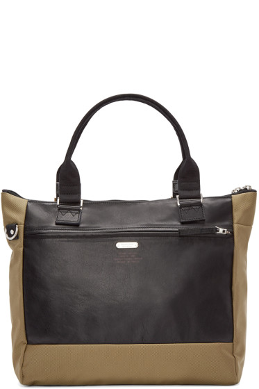 Master-Piece Co - Khaki Nylon & Leather Tote