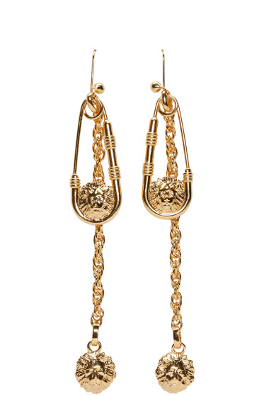 Versus - Gold Safety Pin Earrings