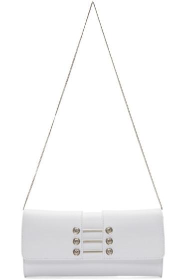 Versus - White Leather Piercing Shoulder Bag