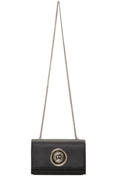 Versus - Black Leather Lion Medallion Bag