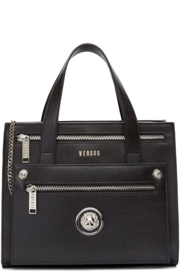Versus - Black Leather Small Tote