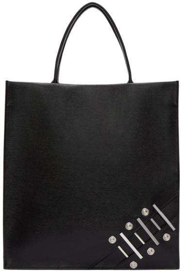 Versus - Black Leather Piercing Tote