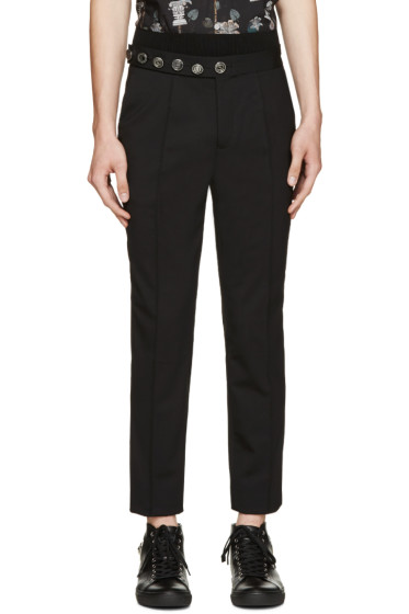 Versus - Black Wool Logo Anthony Vaccarello Edition Trousers
