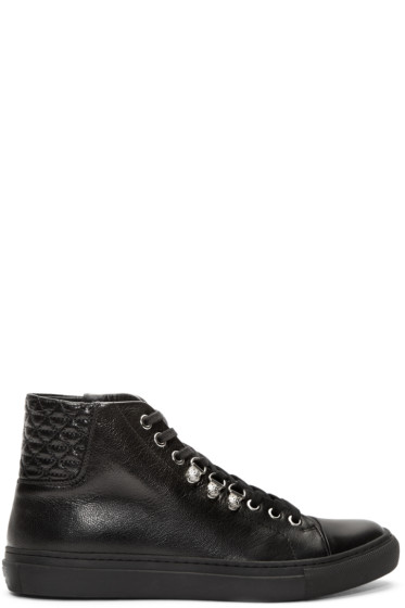 Versus - Black Quilted Leather Sneakers