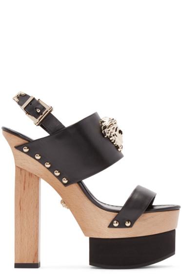 Versace - Black Leather Platform Heels