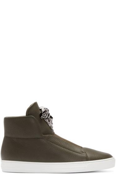 Versace - Green Medusa High-Top Sneakers