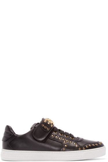 Versace - Black Studded Low-Top Sneakers
