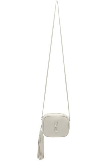 Saint Laurent - Off-White Monogram Toy Blogger Bag
