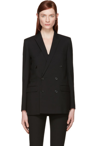Saint Laurent - Black Wool Double-Breasted Blazer