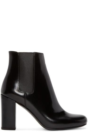 Saint Laurent - Black Leather Babies Boots